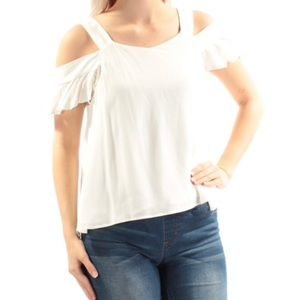 Sanctuary white cut out sleeve blouse
